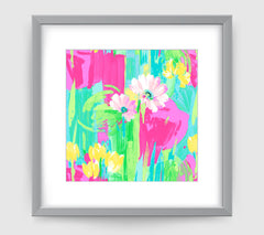 Giselle Floral Art Print Di Lewis Living Room Wall Decor