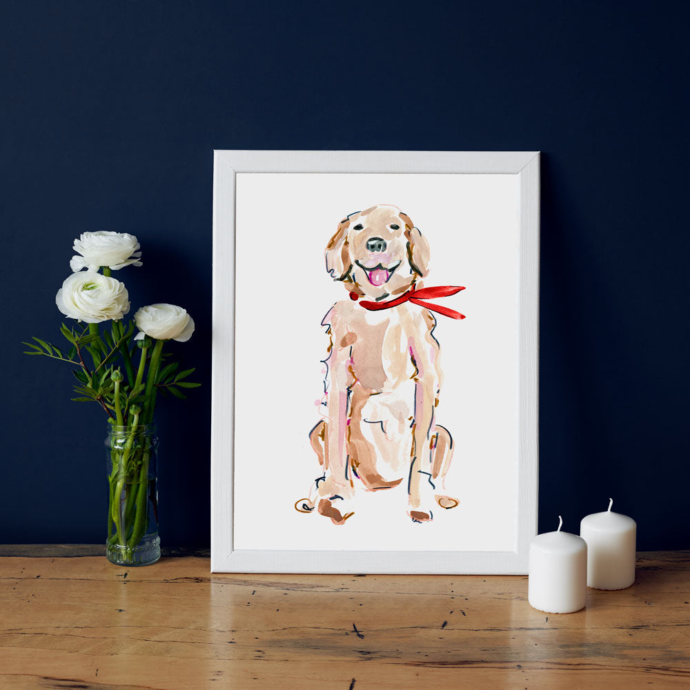 Rickie Retriever Art Print