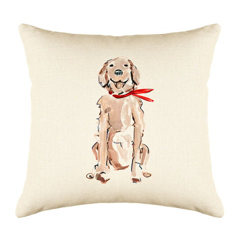 Rickie Retriever Throw Pillow Cover - Dog Illustration Throw Pillow Cover Collection