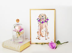 Goldie Retriever Art Print - Dog Illustrations Wall Art Collection
