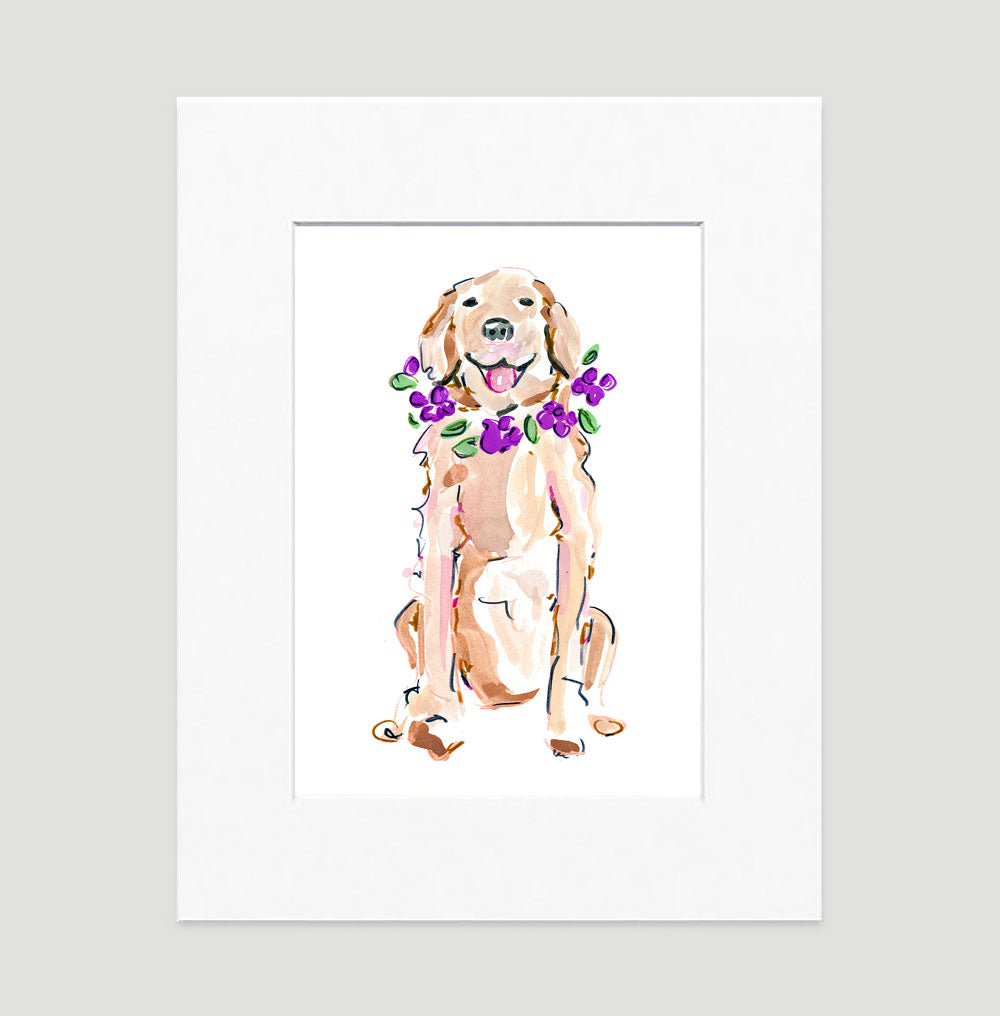 Goldie Retriever Art Print - Dog Illustrations Wall Art Collection-Di Lewis