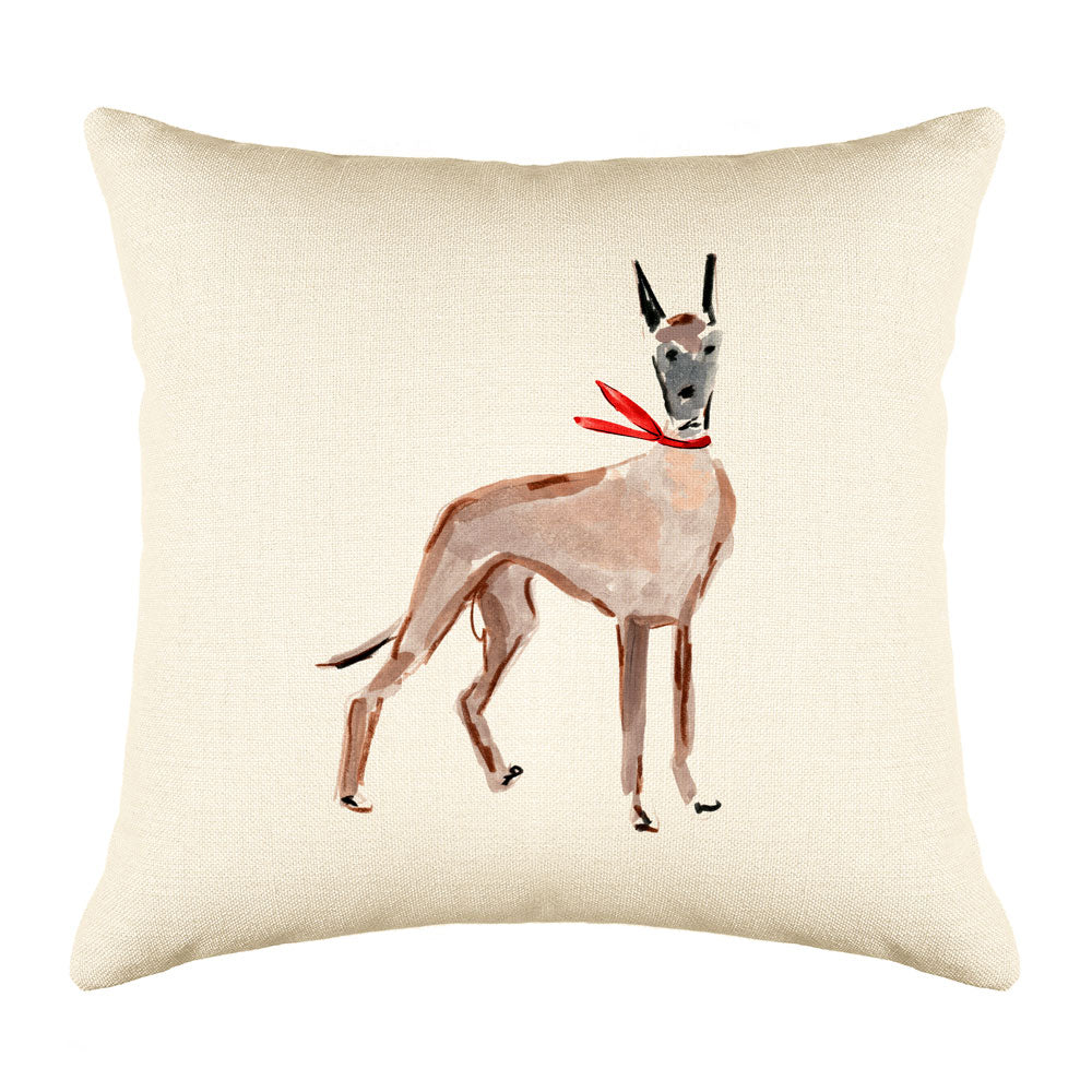 Duke Dane Throw Pillow Cover - Dog Illustration Throw Pillow Cover Collection