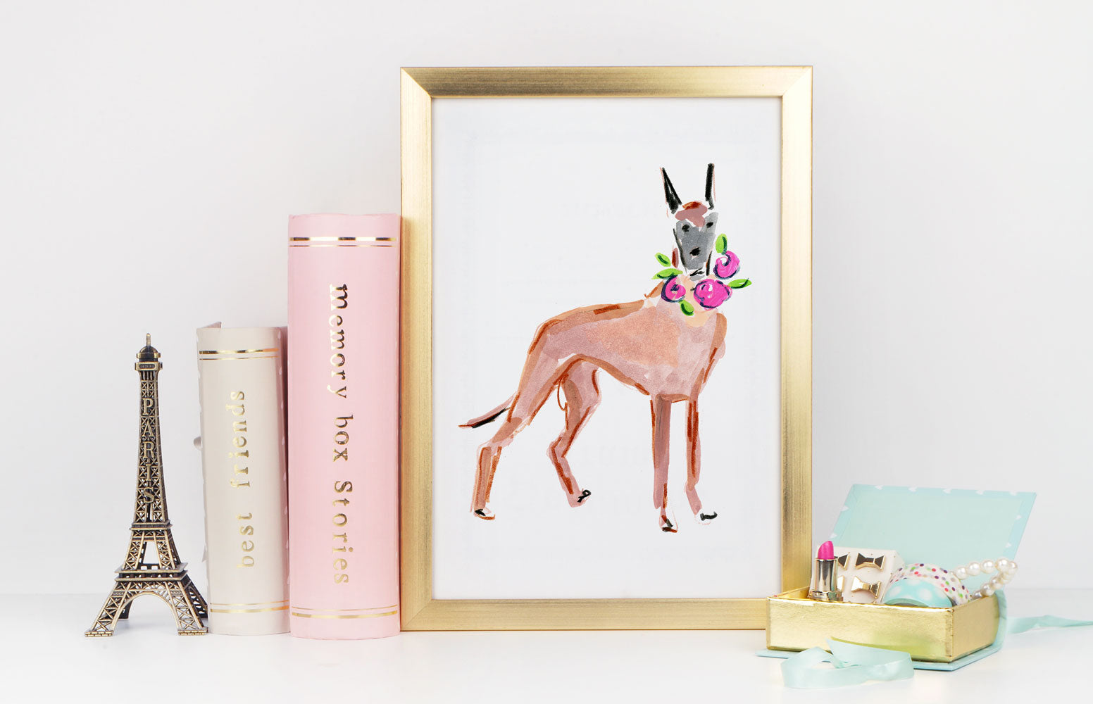 Daisy Dane Art Print - Dog Illustrations Wall Art Collection-Di Lewis