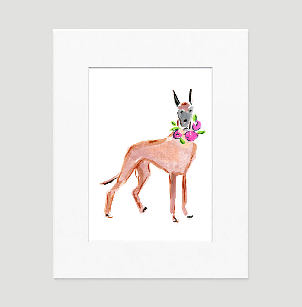 Daisy Dane Art Print - Dog Illustrations Wall Art Collection