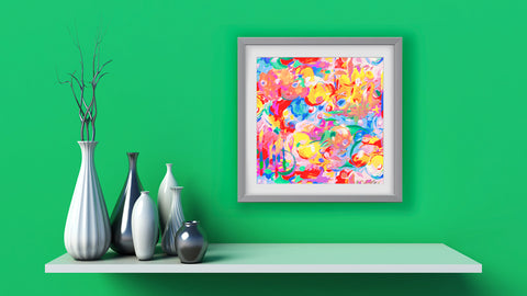 Imagination Abstract Art Print Di Lewis Living Room Wall Decor