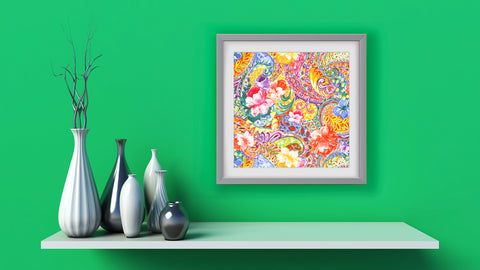 Indienne Floral Art Print Di Lewis Living Room Wall Decor