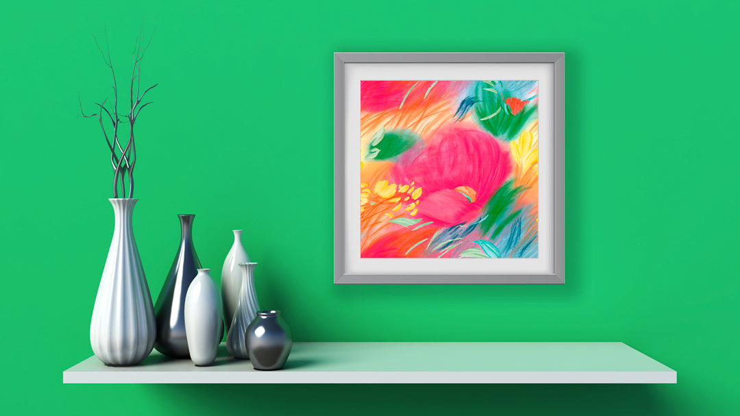 Papaver Art Print - Impressionist Art Wall Decor Collection-Di Lewis