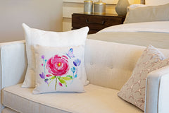 Happy Flower Throw Pillow Cover - Decorative Designs Throw Pillow Cover Collection