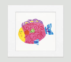 Happy Fish Art Print - Kids Wall Art Collection-Di Lewis