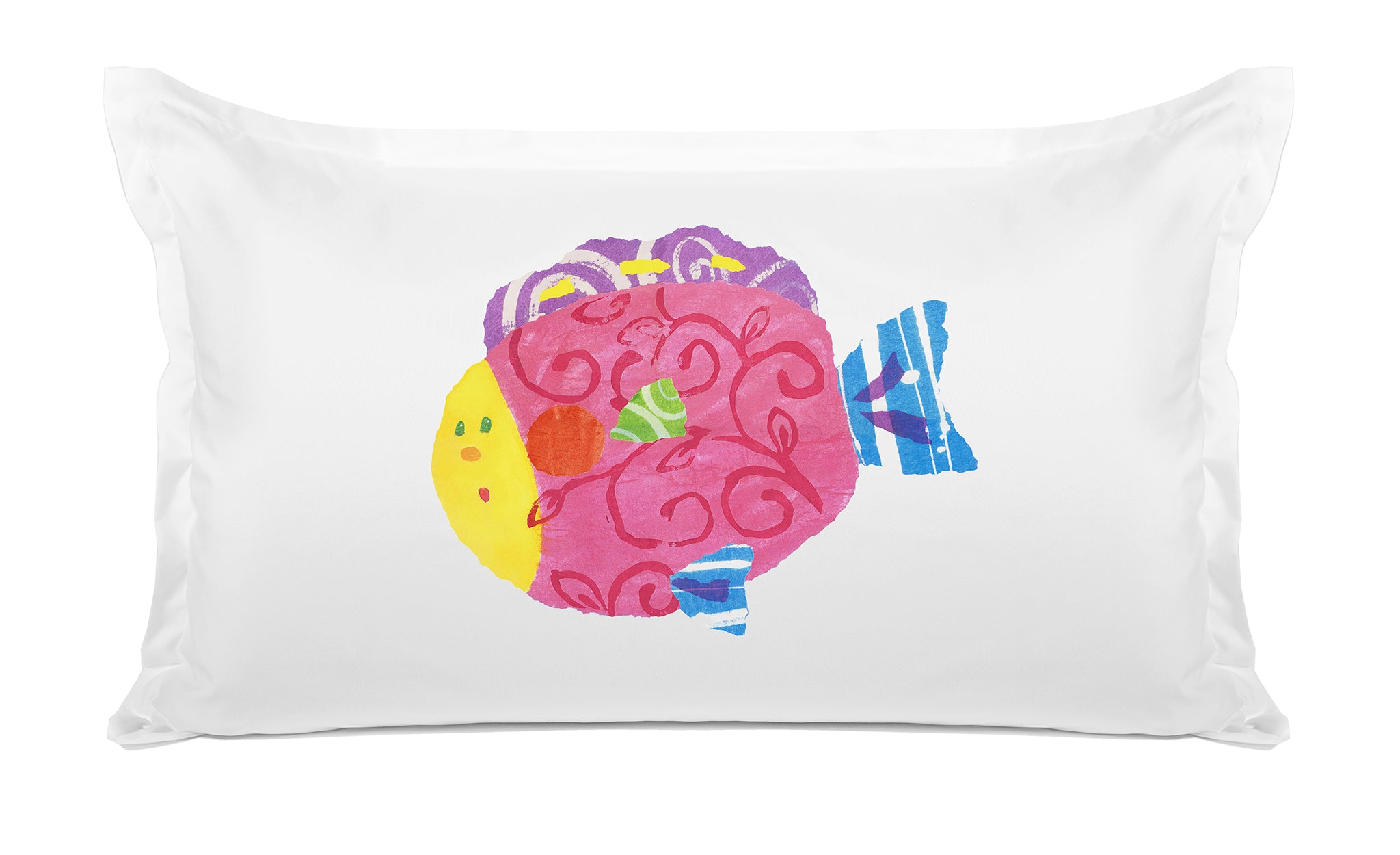 Happy Fish Kids Pillow, Di Lewis Kids Bedding