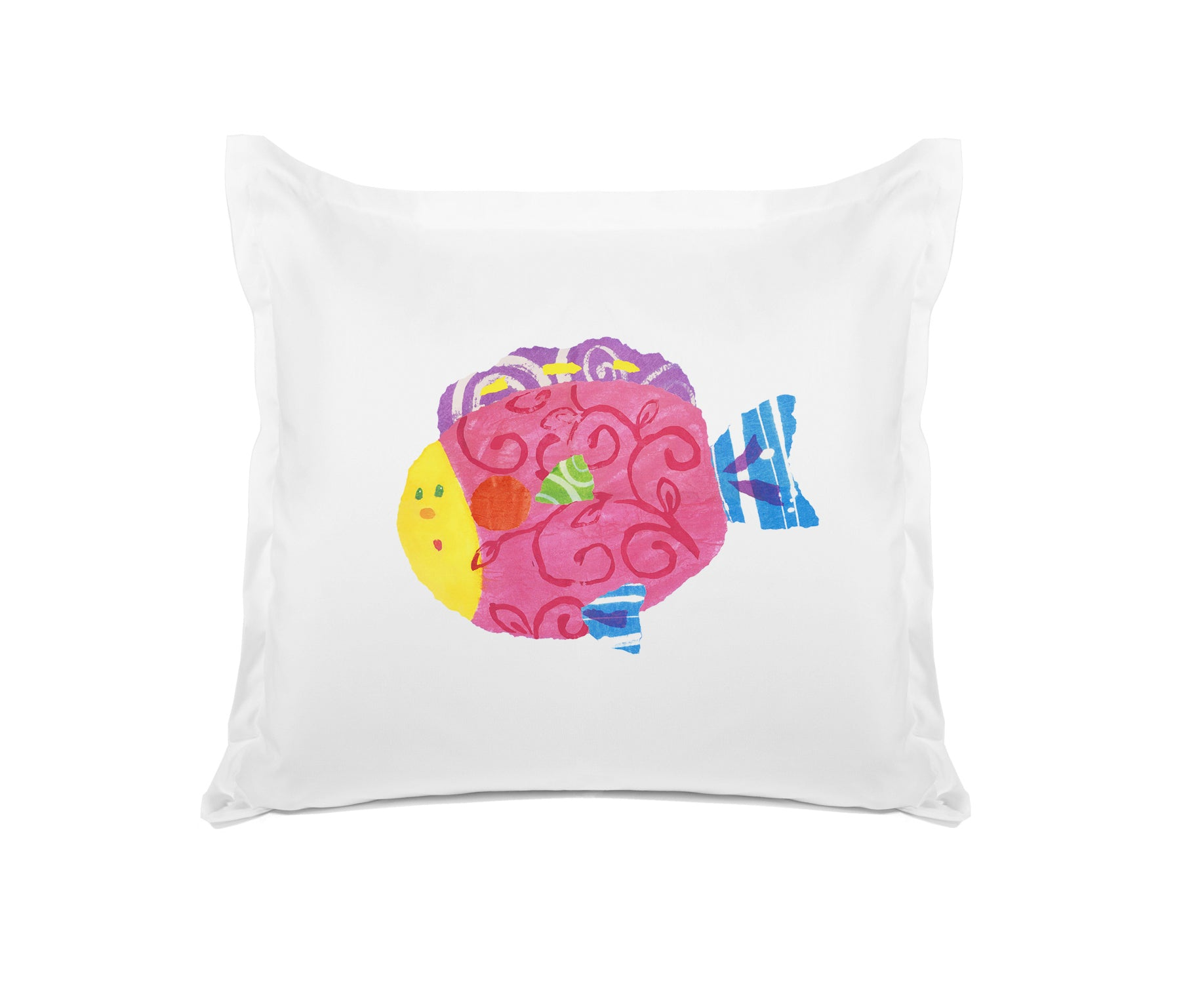 Happy Fish Kids Euro Sham Di Lewis Kids Bedding