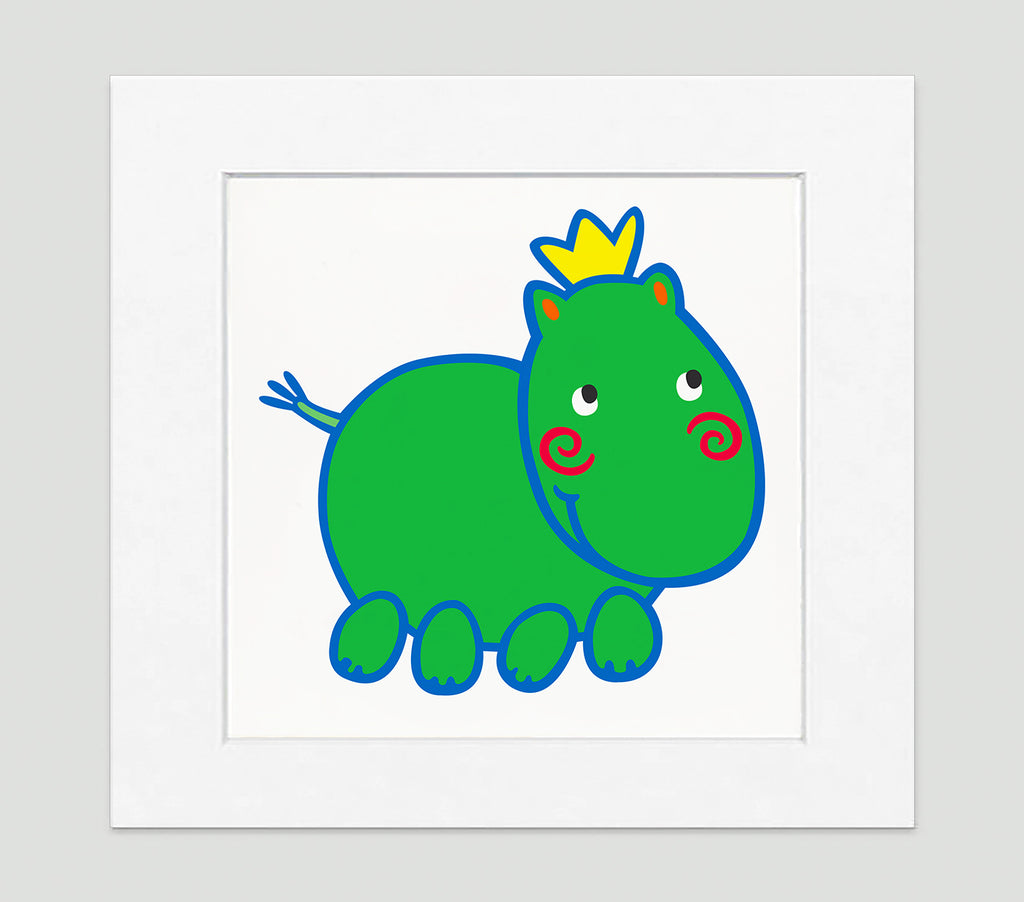 Harry Hippo Art Print - Kids Wall Art Collection-Di Lewis