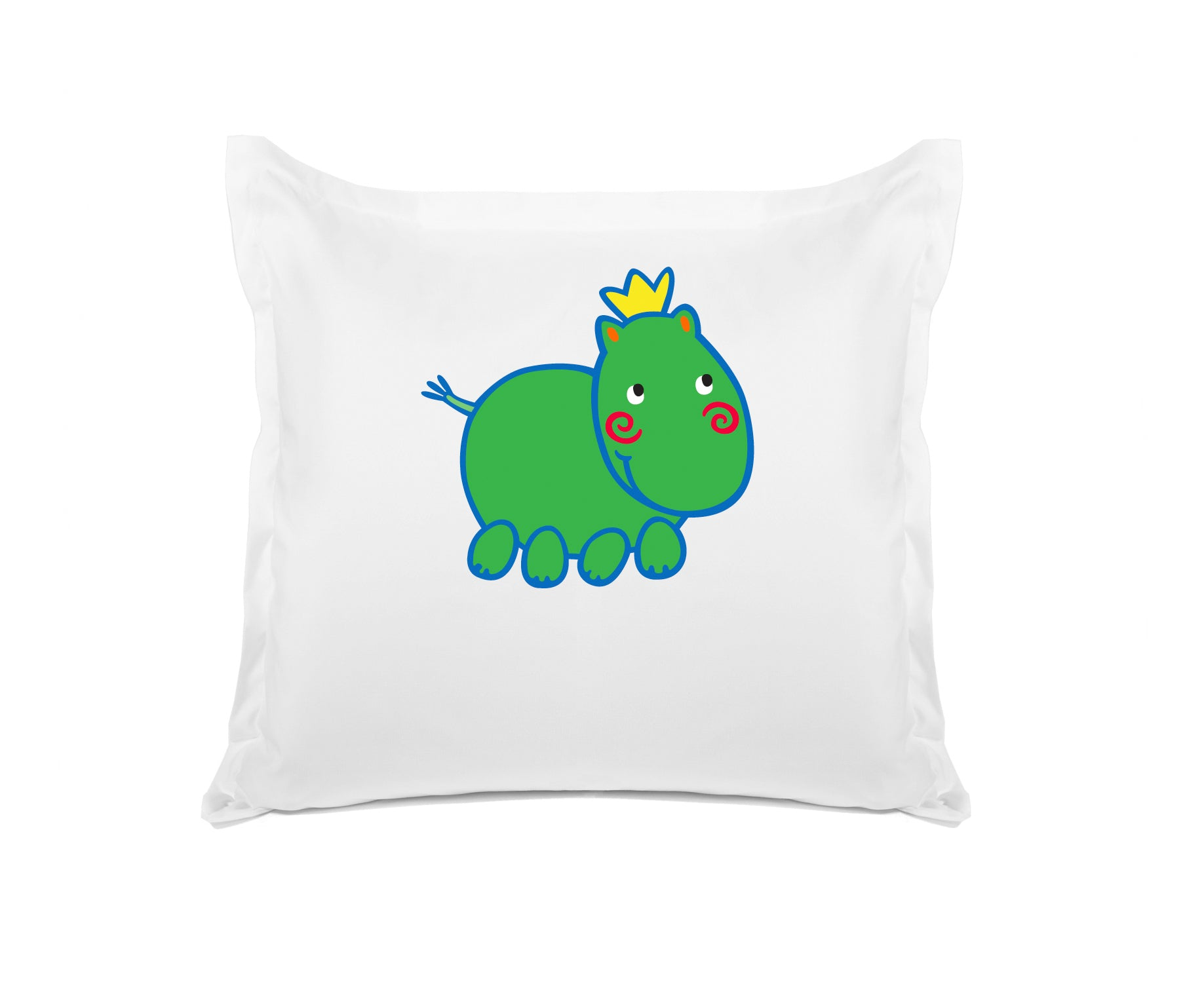 Harry Hippo Personalized Kids Euro Sham Di Lewis Kids Bedding