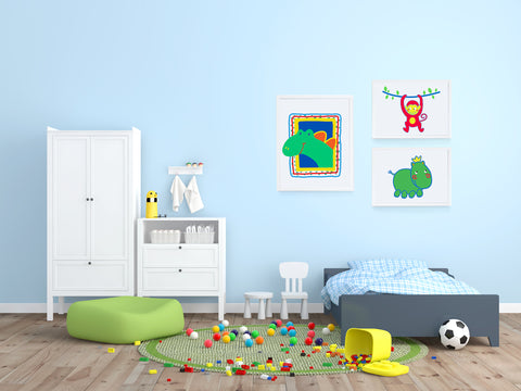 Harry Hippo Kids Wall Decor Di Lewis Kids Bedroom Decor