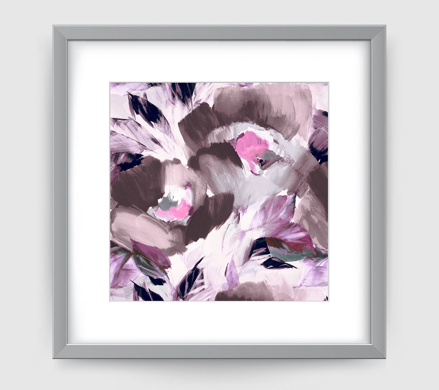 Helena Grey Purple Impressionist Art Print Di Lewis Living Room Wall Decor