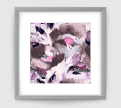 Helena Grey Purple Art Print - Impressionist Art Wall Decor Collection-Di Lewis