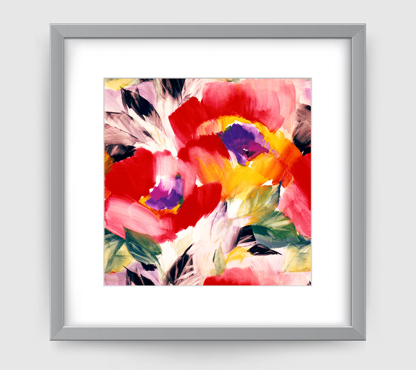 Helena Multi Impressionist Art Print Di Lewis Living Room Wall Decor