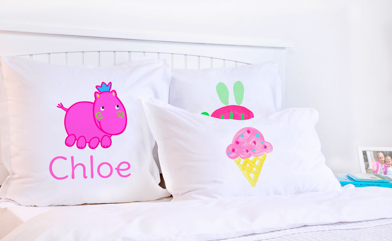 Henrietta Hippo - Personalized Kids Pillowcase Collection