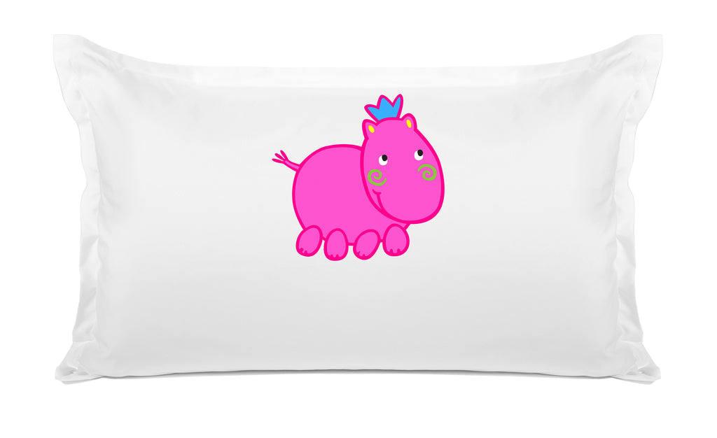 Henrietta Hippo Personalized Kids Pillow case Di Lewis Kids Bedding