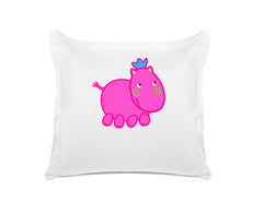 Henrietta Hippo - Personalized Kids Pillowcase Collection-Di Lewis