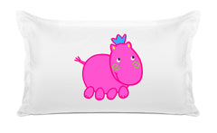 Henrietta Hippo Kids Pillow, Di Lewis Kids Bedding