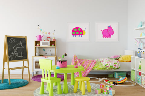 Henrietta Hippo Kids Wall Decor Di Lewis Kids Bedroom Decor