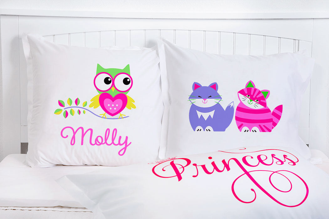 Hoot Hoot - Personalized Kids Pillowcase Collection-Di Lewis
