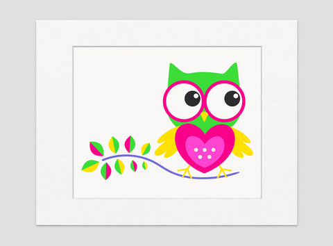 Hoot Hoot Art Print - Kids Wall Art Collection-Di Lewis