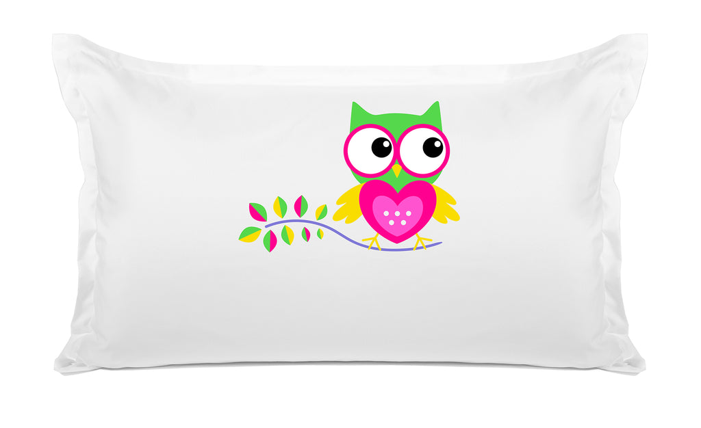 Hoot Hoot Personalized Kids Pillow case Di Lewis Kids Bedding