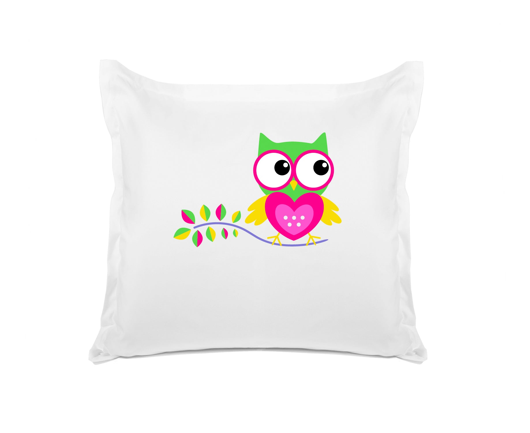 Hoot Hoot Personalized Kids Euro Sham Di Lewis Kids Bedding