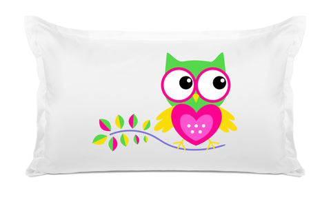Hoot Hoot Kids Pillowcase Di Lewis Kids Bedding