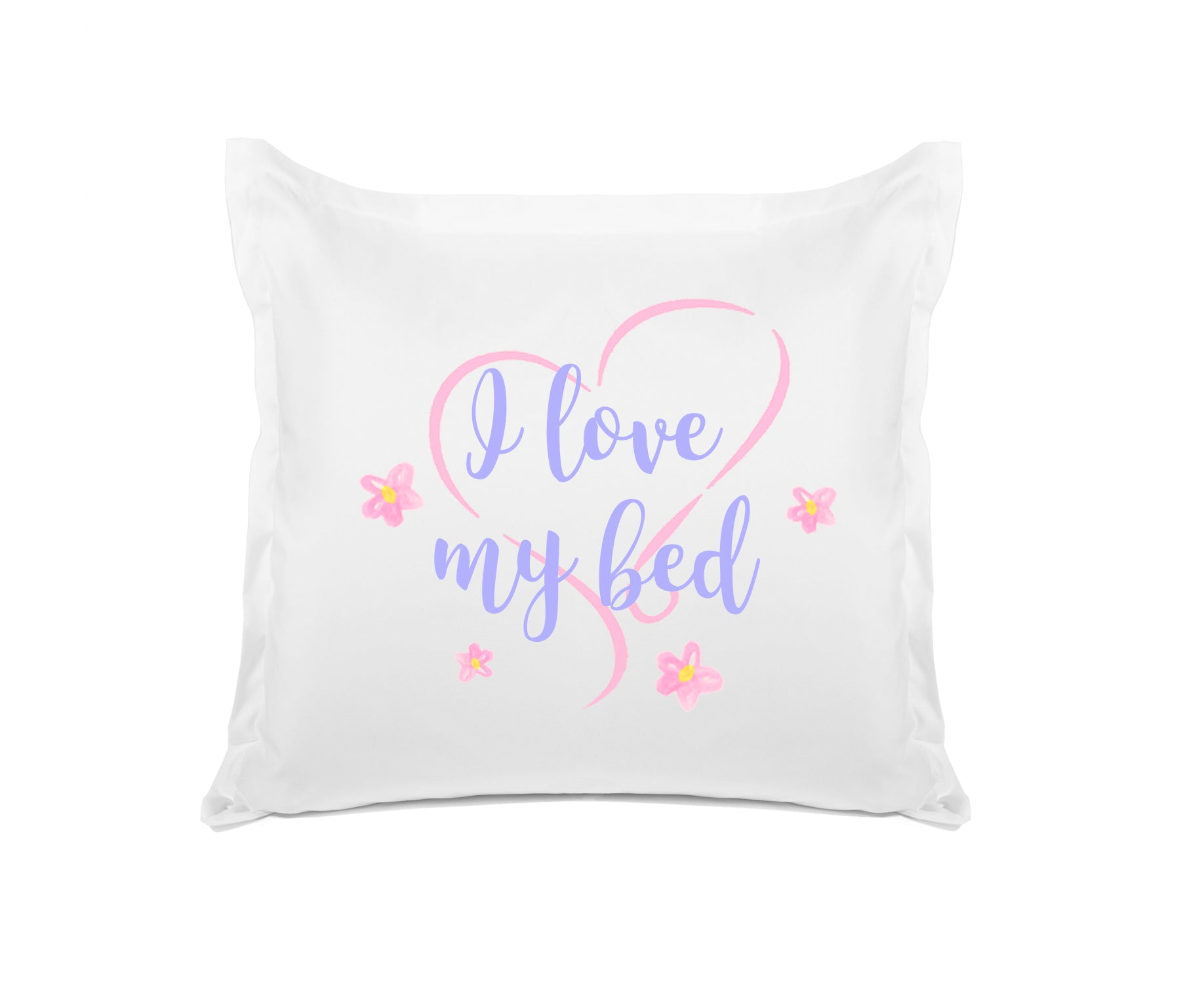 I Love My Bed quote pillow Di Lewis bedroom decor