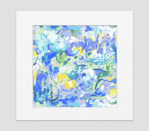 Imagination Blue Art Print - Abstract Art Wall Decor Collection