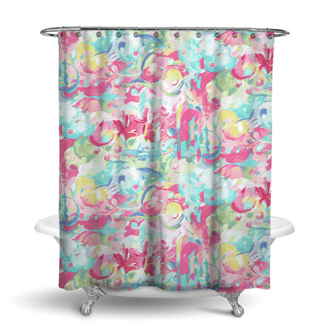 IMAGINATION - ABSTRACT SHOWER CURTAIN - CANDY - CONTEMPORARY DESIGN