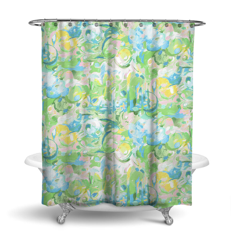 IMAGINATION - ABSTRACT SHOWER CURTAIN - LEAF - CONTEMPORARY DESIGN