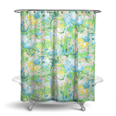 IMAGINATION ABSTRACT SHOWER CURTAIN LEAF – SHOWER CURTAIN COLLECTION