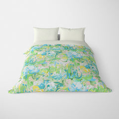 ABSTRACT DUVET COVERS & BEDDING SETS - IMAGINATION LEAF - GEOMETRIC DESIGN - HYPOALLERGENIC