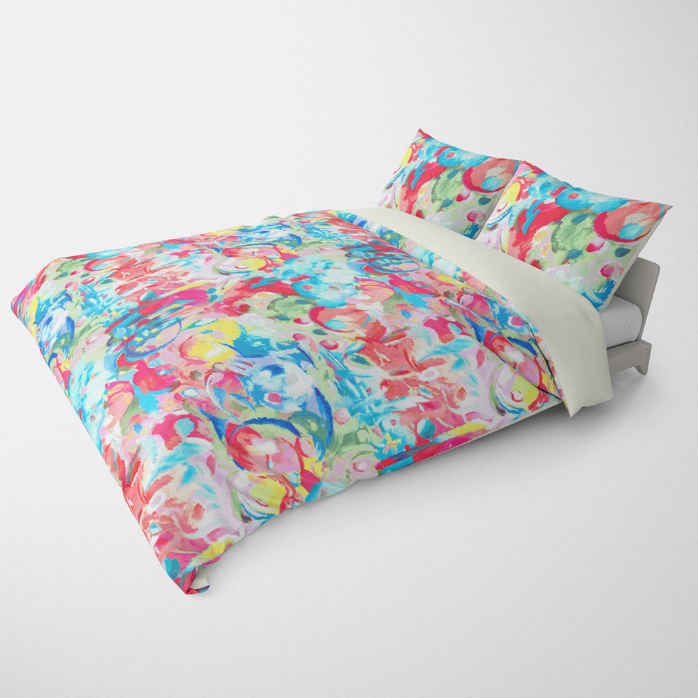 ABSTRACT DUVET COVERS & BEDDING SETS - IMAGINATION PAINTBOX - GEOMETRIC DESIGN - HYPOALLERGENIC