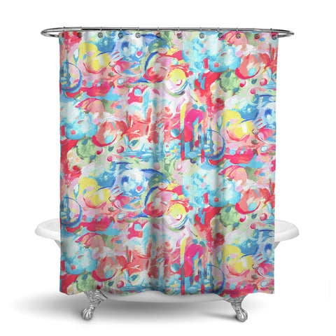 IMAGINATION ABSTRACT SHOWER CURTAIN PAINTBOX – SHOWER CURTAIN COLLECTION