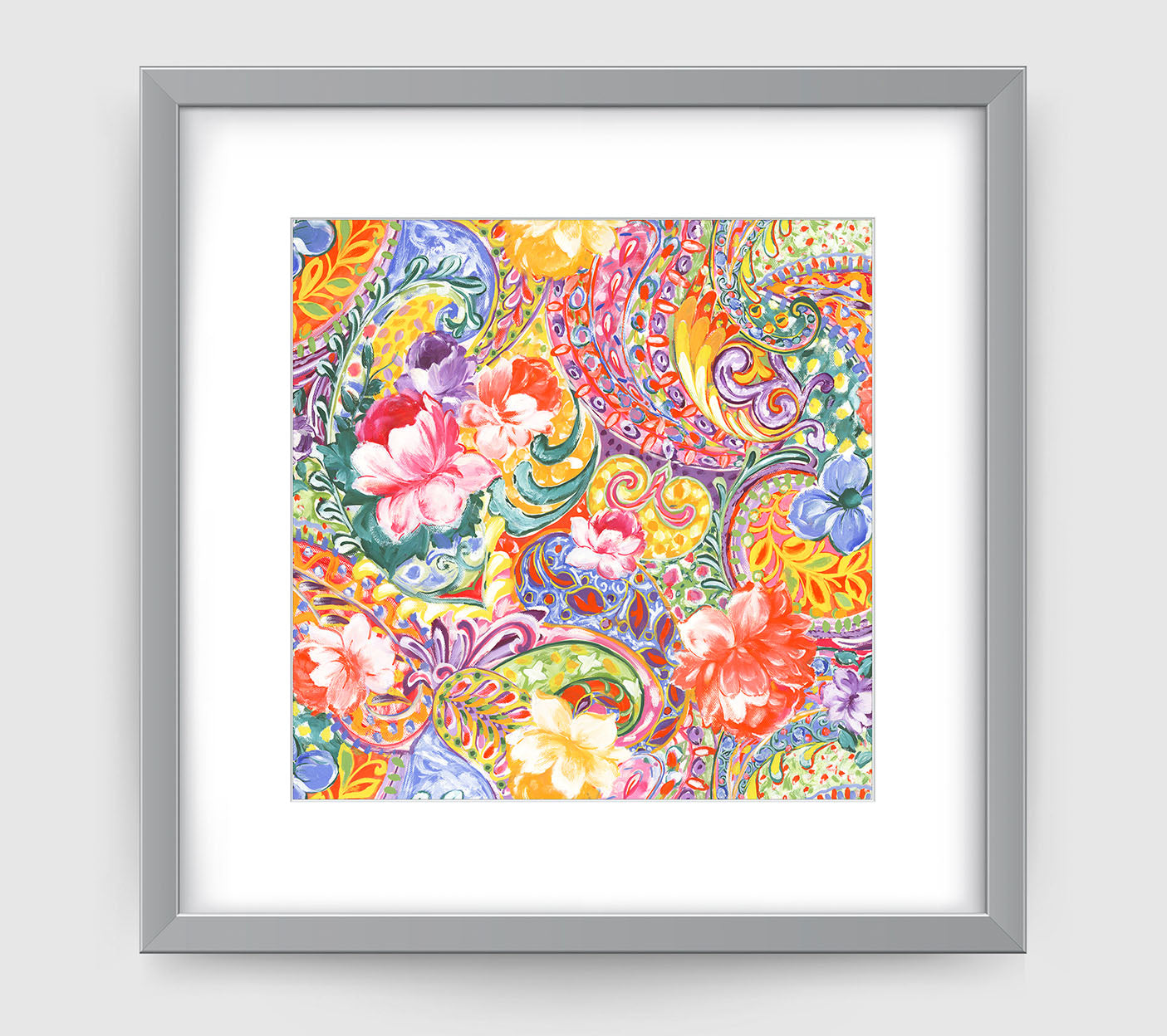Indienne Art Print - Floral Art Wall Decor Collection-Di Lewis