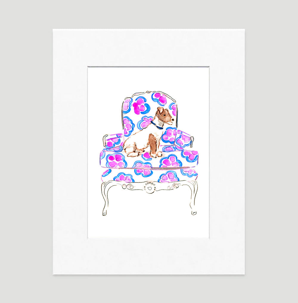 Jackie The Jack Russel Art Print - Dog Illustrations Wall Art Collection-Di Lewis