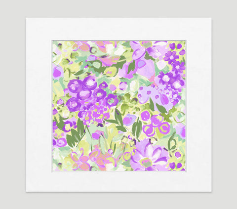Jardin Violet Art Print - Impressionist Art Wall Decor Collection