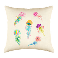 Jellyfish Throw Pillow Cover - Coastal Designs Throw Pillow Cover Collection