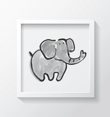 Jumbo (Blue) Art Print - Kids Wall Art Collection-Di Lewis