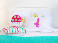 Pink Kangaroo - Personalized Kids Pillowcase Collection