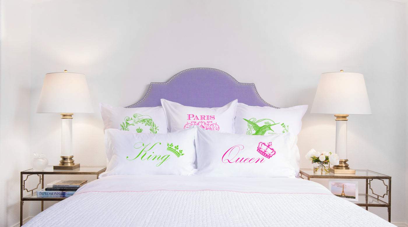 King Crown, Queen Crown pillow sets Di Lewis bedroom decor