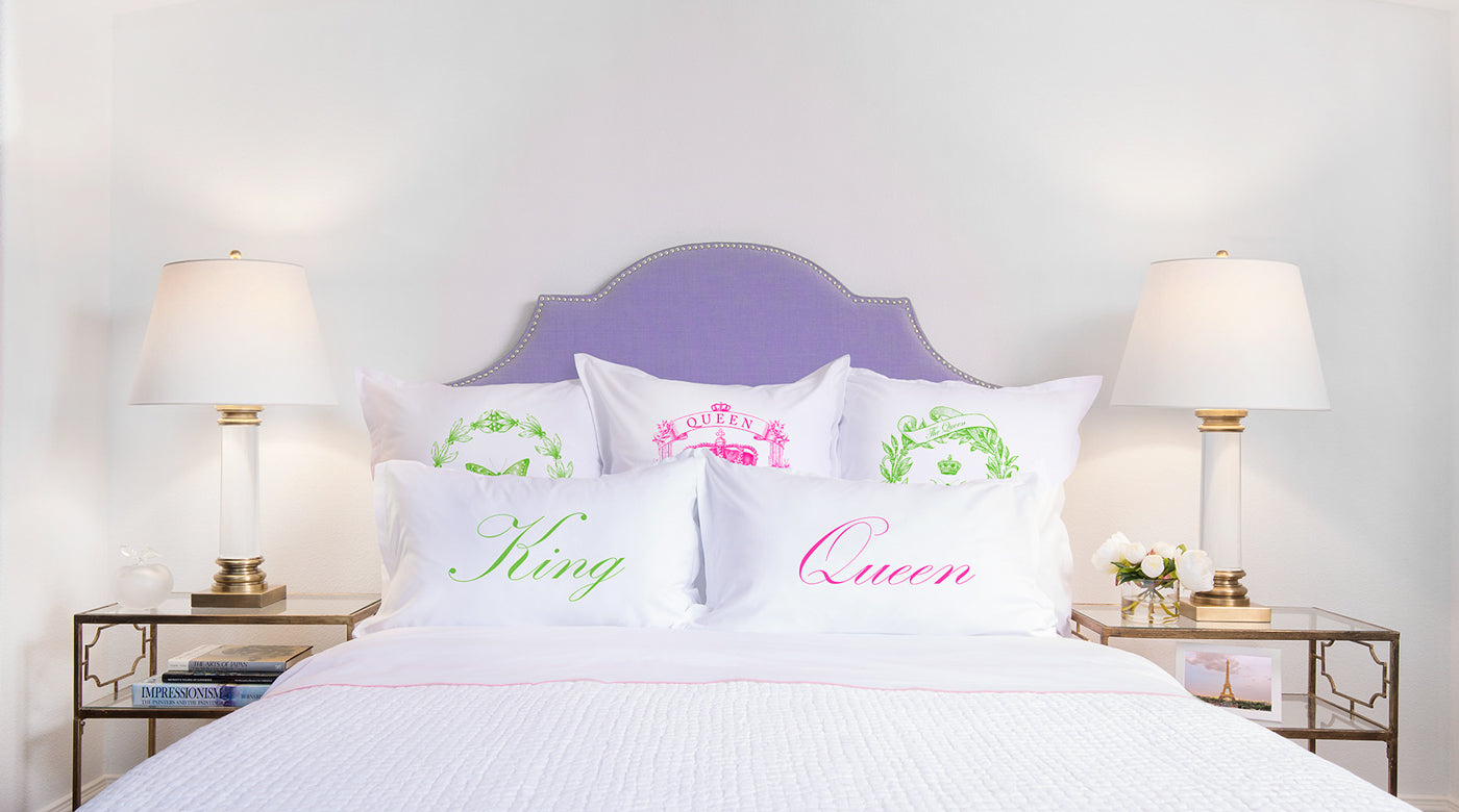 King, Queen - His & Hers Pillowcase Collection-Di Lewis