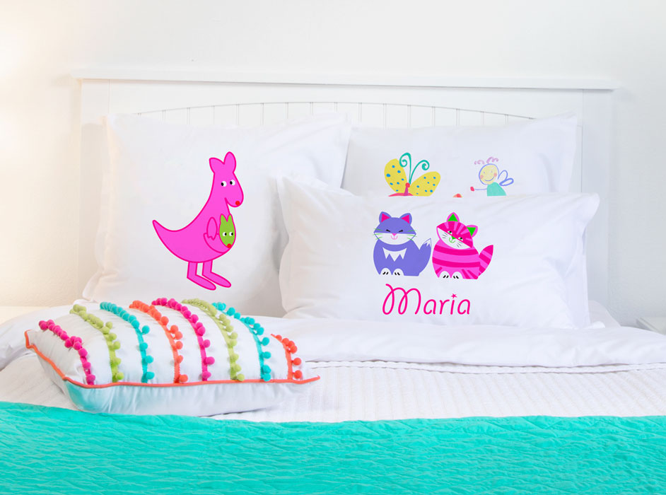 Kit & Kat - Personalized Kids Pillowcase Collection