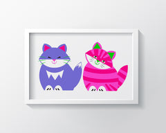 Kit And Kat Art Print - Kids Wall Art Collection-Di Lewis