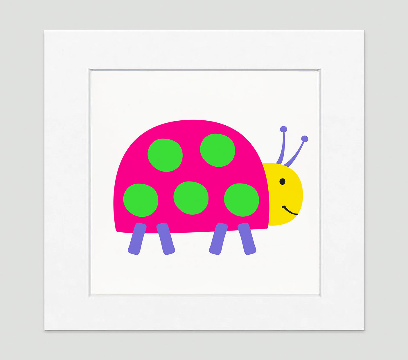 Lady Bug Art Print - Kids Wall Art Collection-Di Lewis